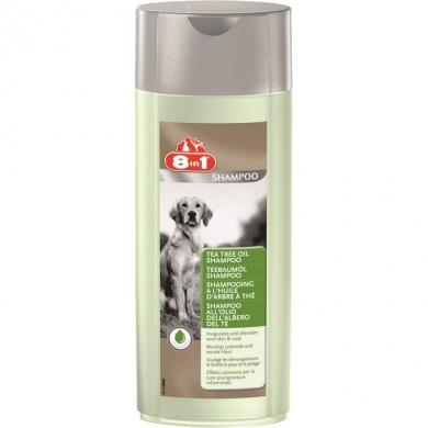 """8in1 """"Шампунь c маслом Чайного дерева для снятия воспалений и зуда от укусов блох и клещей"""" для собак 250мл"""