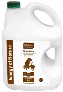 """Пчелодар шампунь """"Professional Energy of Natural"""" укрепляющий с пергой и кератином для кошек и собак(концентрат 4:1)5л"""
