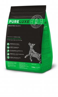 """""""Pureluxe Healthy Activity с индейкой и лососем"""" сухой корм для активных собак"""