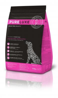 """""""Pureluxe Adult с индейкой, лососем и чечевицей"""" сухой корм для нормализации веса собак"""