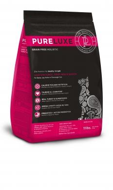 """""""Pureluxe Healthy Weight  с индейкой и лососем"""" сухой корм для нормализации веса кошек"""