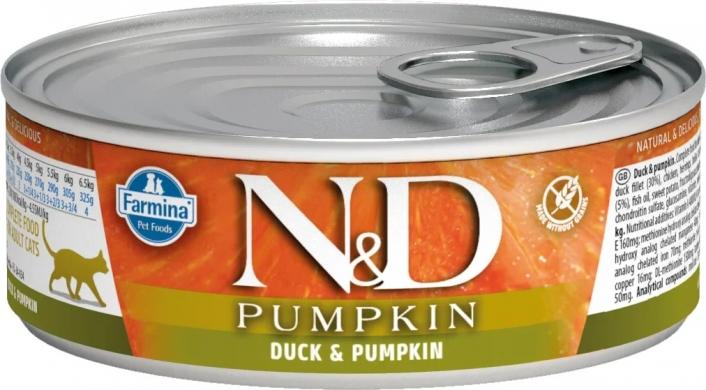 N&D Cat Pumpkin c уткой и тыквой влажный корм для кошек