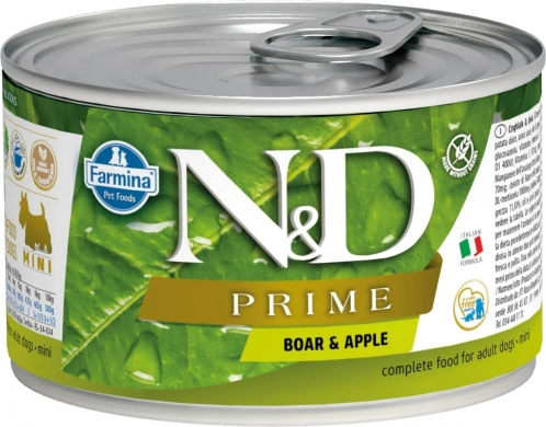 N&D Dog Prime с кабаном и яблоком влажный корм для собак мелких пород