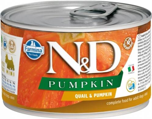 N&D Dog Pumpkin перепел и тыква влажный корм для собак мелких пород