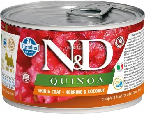 N&D Dog Quinoa сельдь,кокос и киноа для здоровья кожи и шерсти влажный корм для собак мелких пород