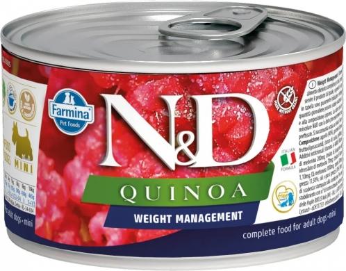 N&D Dog Quinoa с ягненком, брокколи и киноа для контроля веса влажный корм для собак мелких пород