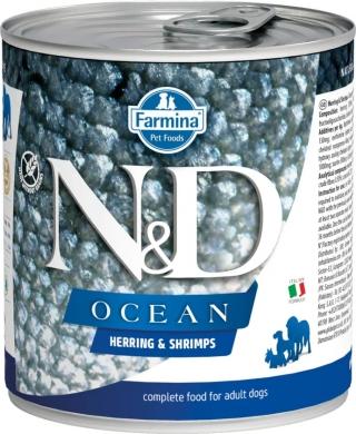 N&D Dog Ocean сельдь и креветки влажный корм для собак