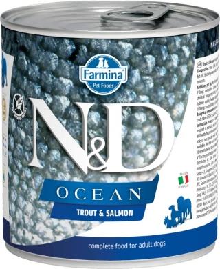 N&D Dog Ocean с форелью и лососем влажный корм для собак