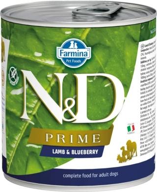 N&D Dog Prime с ягненком и черникой влажный корм для собак