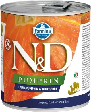 N&D Dog Pumpkin с ягненком, черникой и тыквой влажный корм для собак