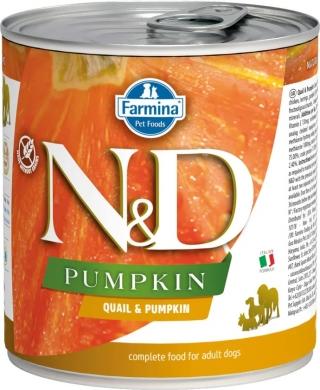 N&D Dog Pumpkin с перепелом и тыквой влажный корм для собак