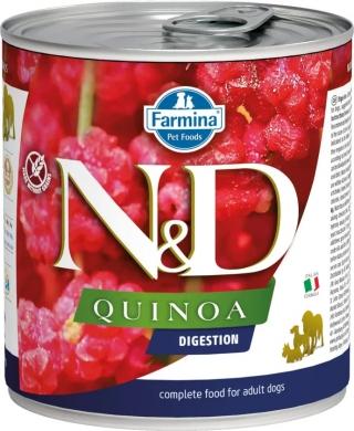 N&D Dog Quinoa с ягненком,фенхелем и киноа для поддержки пищеварения влажный корм для собак
