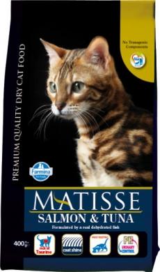 Matisse с лососем и тунцом сухой корм для кошек