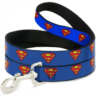 """Buckle-Down поводок для собак """"Супермен"""" цвет синий 120см"""