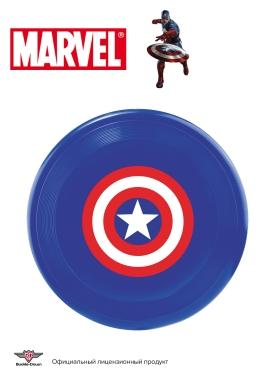 "Buckle-Down игрушка для собак фрисби ""Капитан Америка"" мультицвет 31см"