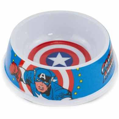 "Buckle-Down миска для животных ""Капитан Америка"" мультицвет 0,470л"