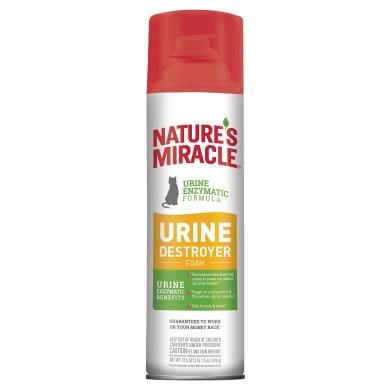 Nature's Miracle Уничтожитель пятен, меток и запахов мочи Пена-аэрозоль для кошек 518мл