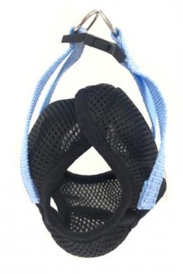 ЗооэкспрессFRESH LINE шлейка-жилет M со светоотражающей нитью, капрон/сетка, цвет черный с голубым от 32 до 38см