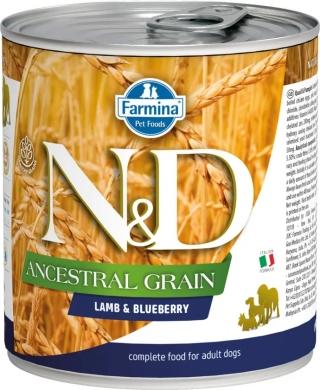 N&D Dog Ancestral Grain c ягненком и черникой влажный корм для собак