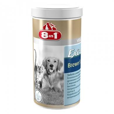 8 in 1 Эксель Пивные дрожжи мультивитаминная добавка для поддержания кожи и шерсти у собак и кошек 1430таб