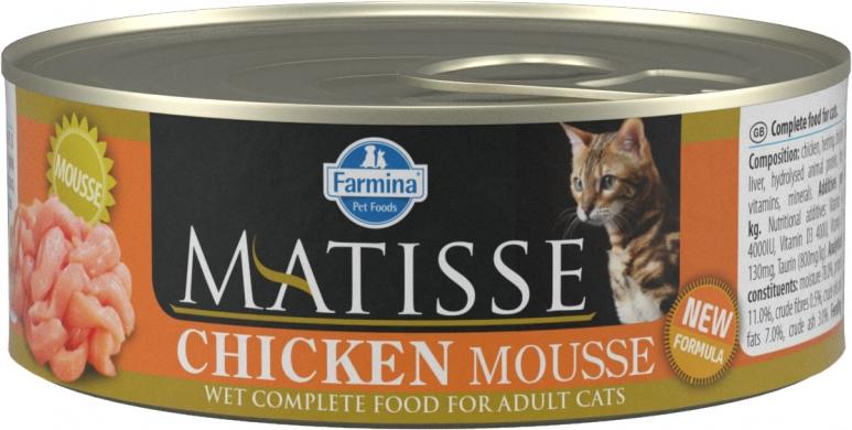 Matisse мусс с курицей влажный корм для кошек