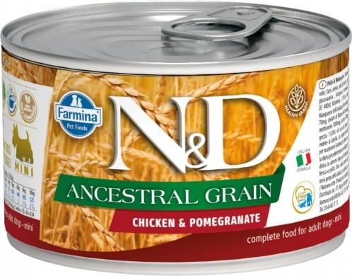 N&D Dog Ancestral Grain c курицей и гранатом влажный корм для собак мелких