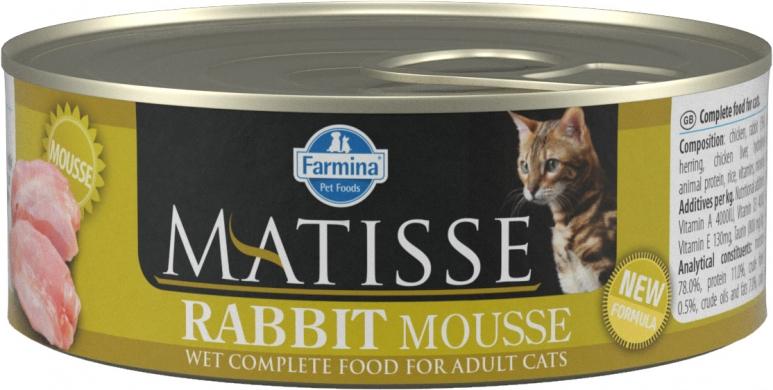 Matisse мусс с кроликом влажный корм для кошек