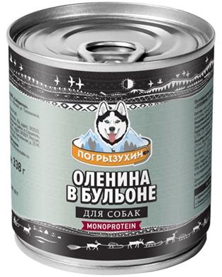ПОГРЫЗУХИНОленина в бульоне влажный корм для собак