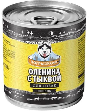 ПОГРЫЗУХИНОленина с тыквой влажный корм для собак